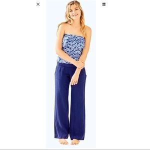 Lilly Pulitzer Bal Harbour Linen Palazzo Pant XS